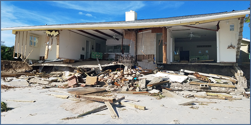 Figure 1 – Loss Site After a Hurricane