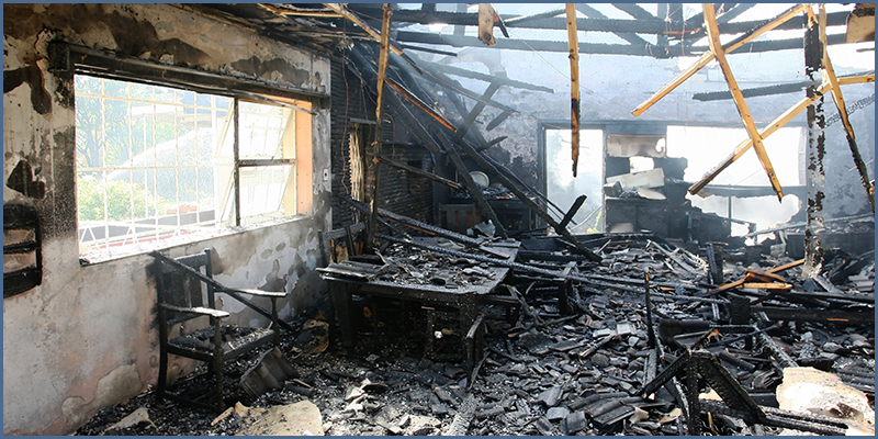 Figure 2 – Loss Site After a Structural Fire