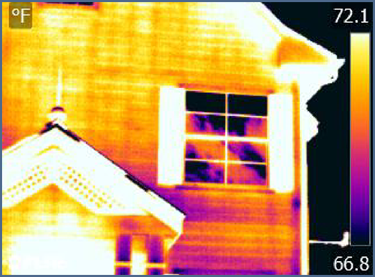 Fig. 2 - Thermal anomalies at bottom left corner of window