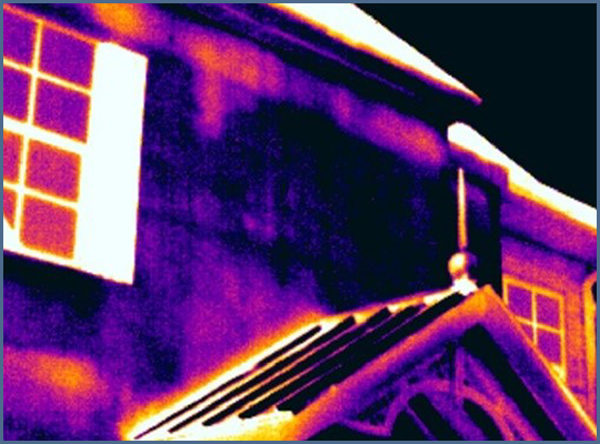 Fig. 7 - High contrast thermal image with short temperature span