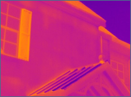 Fig. 8 - Low contrast thermal image with wide temperature span
