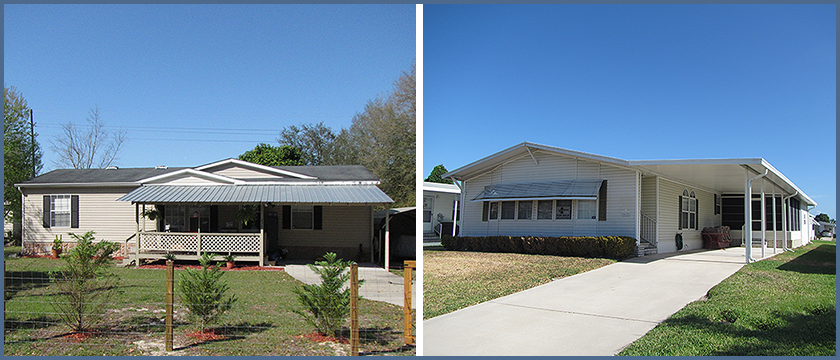 Figure 1 - Examples of mobile homes